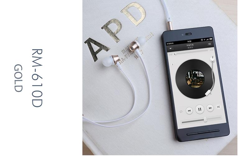 Tai nghe REMAX RM 610D - Màu Gold