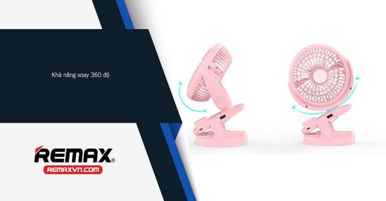 Quạt USB Remax Clip F21 Sở Hữu Thiết Kế Nhỏ Gọn, Thời Trang, Độc Đáo