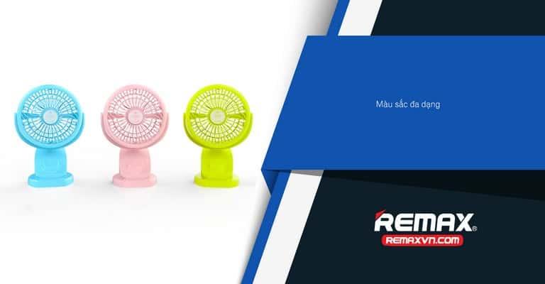 Quạt USB Remax Clip F21 Có 3 Màu: Hồng - Xanh Dương - Xanh Lá