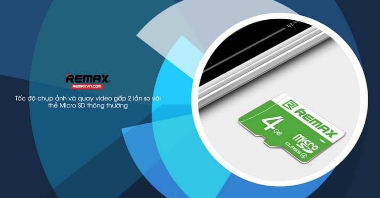 Thẻ nhớ 4GB cho khả năng lưu trữ lớn