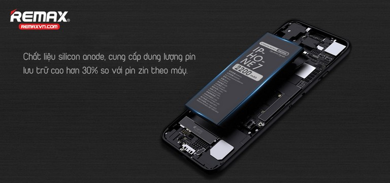Pin iphone 7/7 Plus Dung Lượng Cao Remax RPA-i7
