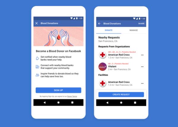 Facebook ra mắt tính năng vận động hiến máu tình nguyện