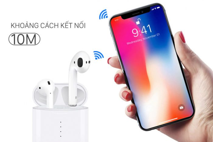 Ngoài phạm vi kết nối sẽ không kết nối được tai nghe bluetooth với điện thoại