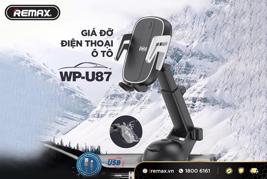 Giá đỡ điện thoại Remax WP-U87 sở hữu thiết kế thông minh và tiện ích là phụ kiện hoàn hảo cho ô tô trên hành trình của bạn.