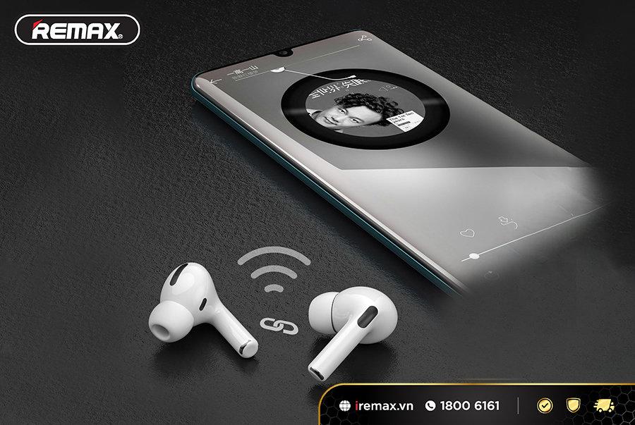 Tai nghe bluetooth của Remax đảm bảo công nghệ kết nối ổn định, nhanh chóng